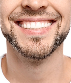 Close up of man's healthy smile